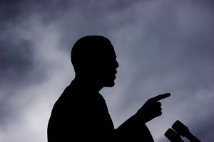 Barack Obama in Shadow